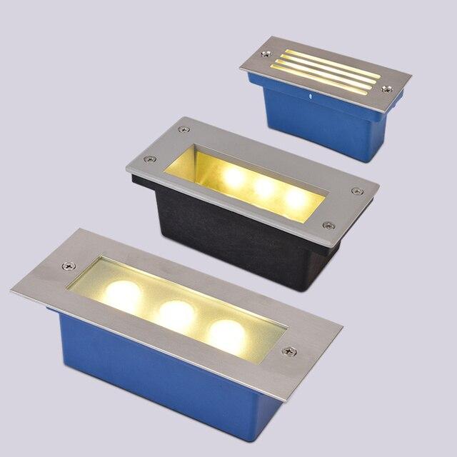 hohe helle edelstahl aluminium deck treppen led bodeneinbau lampe terrasse beleuchtung 3 watt. Black Bedroom Furniture Sets. Home Design Ideas