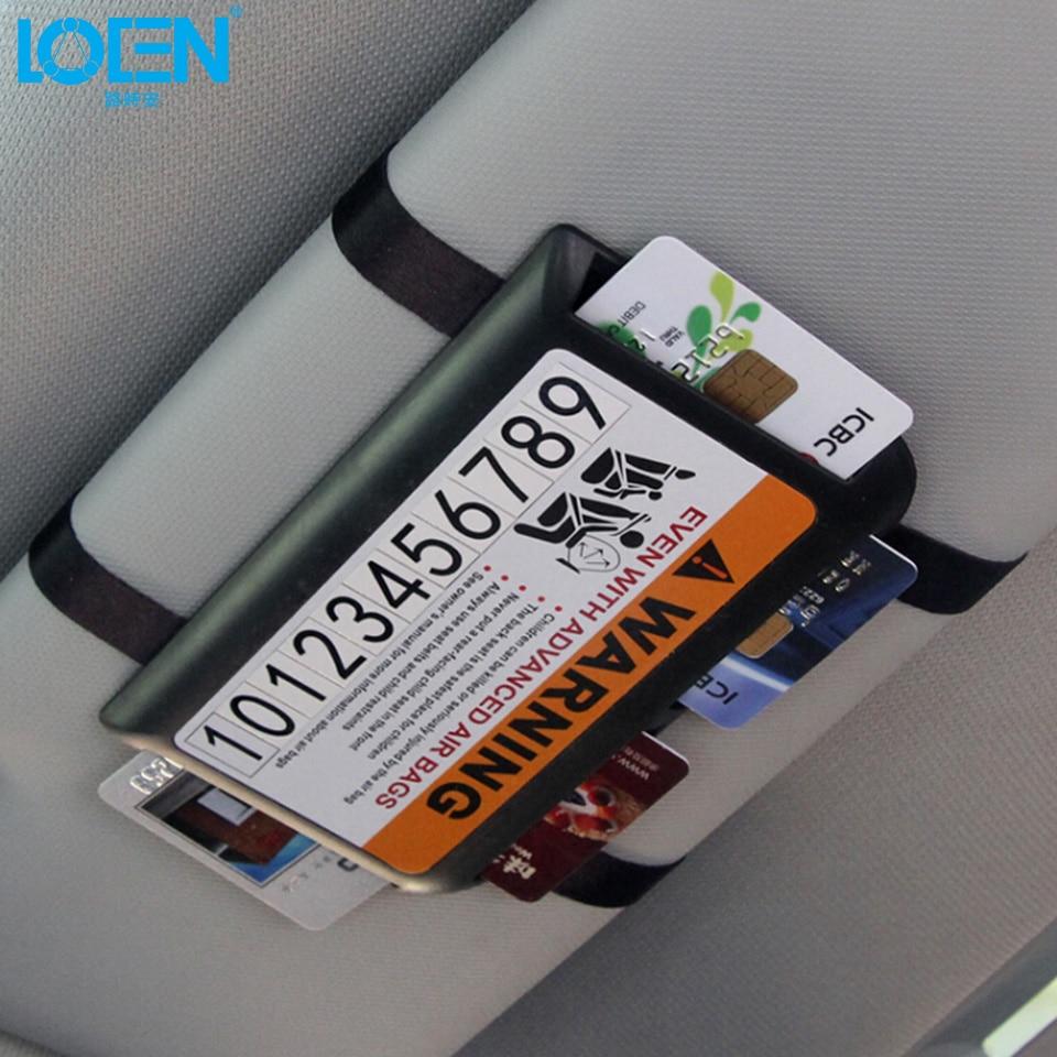 Hot Multifunction Car Sun visor Temporary Parking phone Number Card holder for chevrolet hyundai vw lada Nissan ford kia toyota