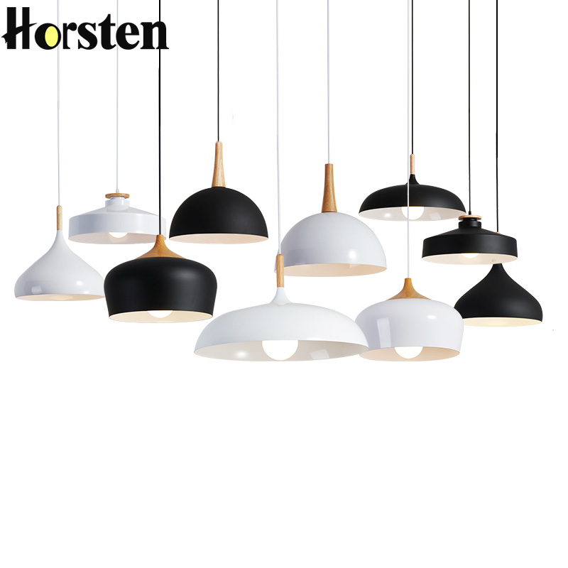 Horsten Nordic LED Pendant Lights Modern Pendant Lamps Aluminum Wood Suspension Hanging Lighting Kitchen Dining Room 110-220V horsten modern simple led pendant lamps dining pendant lights aluminum acrylic ring hanging lamp restaurant home lighting 220v