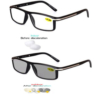 Image 3 - WEARKAPER Übergang Photochrome Lesebrille Männer Frauen Presbyopie Brillen sonnenbrille verfärbung mit dioptrien 1,0 4,0