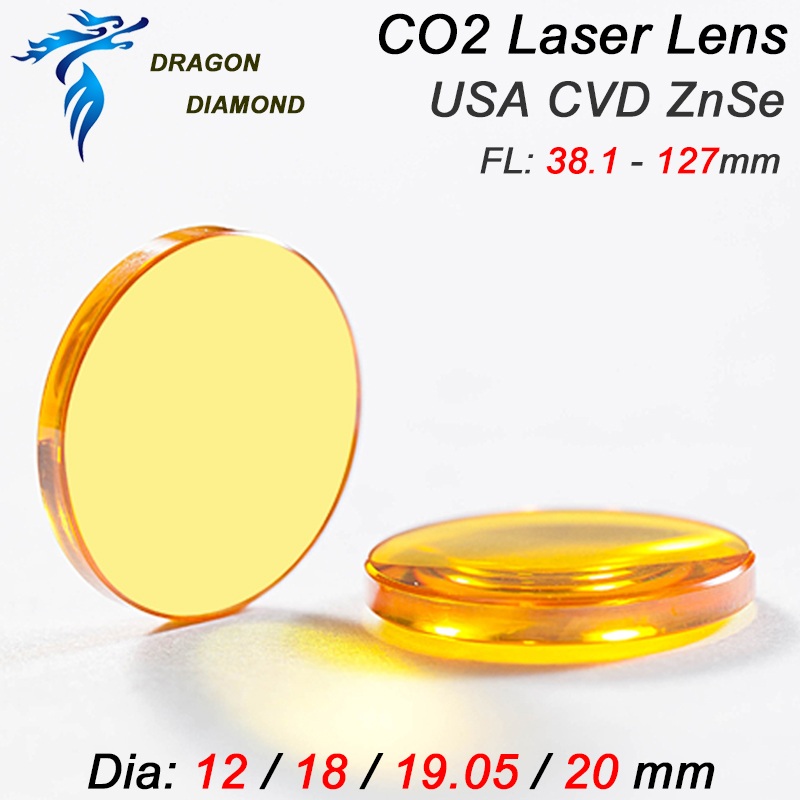 CO2 Laser Engraving Cutting Machine USA ZnSe CO2 Laser lens Diameter 38.1mm Focal Length 127mm