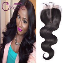 Brazilian Lace Closure Body Wave 7A Tissage Bresilienne Lisse Avec Dentelle Closure 4*4 Lace Closure With Baby Hair Three Part