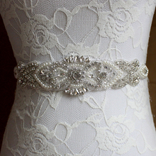 Free Shipping Exquisite Pearl Woman Bridal Sash 2017 Crystal Rhinestone Formal Wedding Gowns Shiny Luxurious Belts Acces