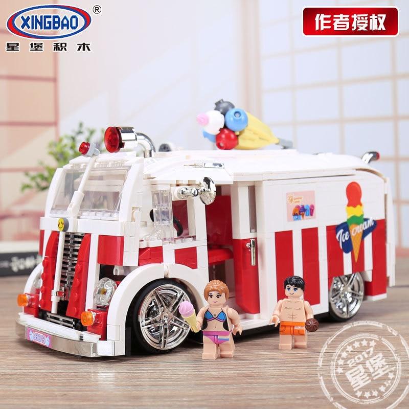 1000 pièces XINGBAO blocs de construction Série Technique La Crème Glacée Voiture Briques jouets éducatifs pour les Enfants Cadeaux 08004 en stock