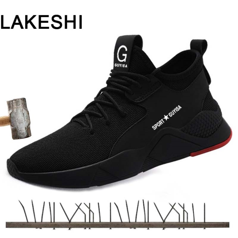 Summer Breathable Work Safety Shoes Men Sneakers Outdoor Steel Toe Shoes Tactical Military Boots Anti-smashing Work Safety Boot