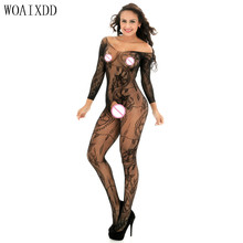 Black red sexy lingerie hot Sexy bodysuit women Open Crotch Stockings fishnet Sheer bodystocking erotic Lingerie costumes