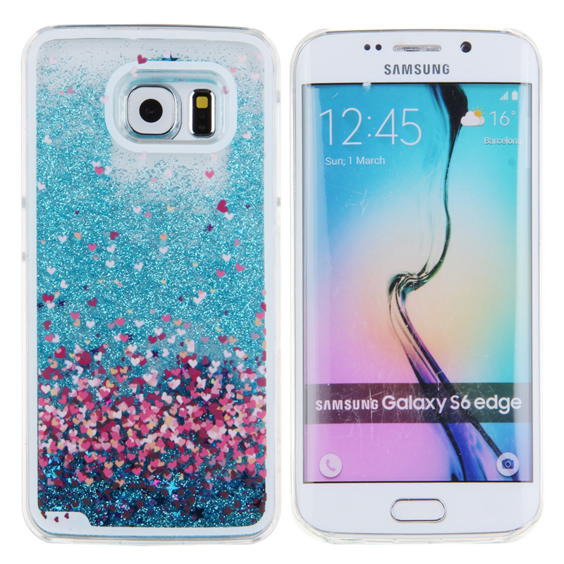 super popular cc81d d2f22 US $3.29 |IKASEFU Flowing Glitter Liquid Case for Samsung Galaxy S6 S6 Edge  Coque Cover for Samsung Galaxy S6 Edge S6 Case Plastic Funda-in Fitted ...