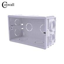 Coswall новая распределительная коробка для монтажа в стену внутренняя кассета белая задняя коробка 137*83*56 мм для 146 мм* 86 мм стандартный переключатель и гнездо