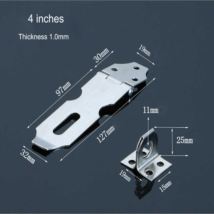 1Pc Stainless Steel Home Drawer Door Safety Padlock Latch  Hasp Household hardware accessories