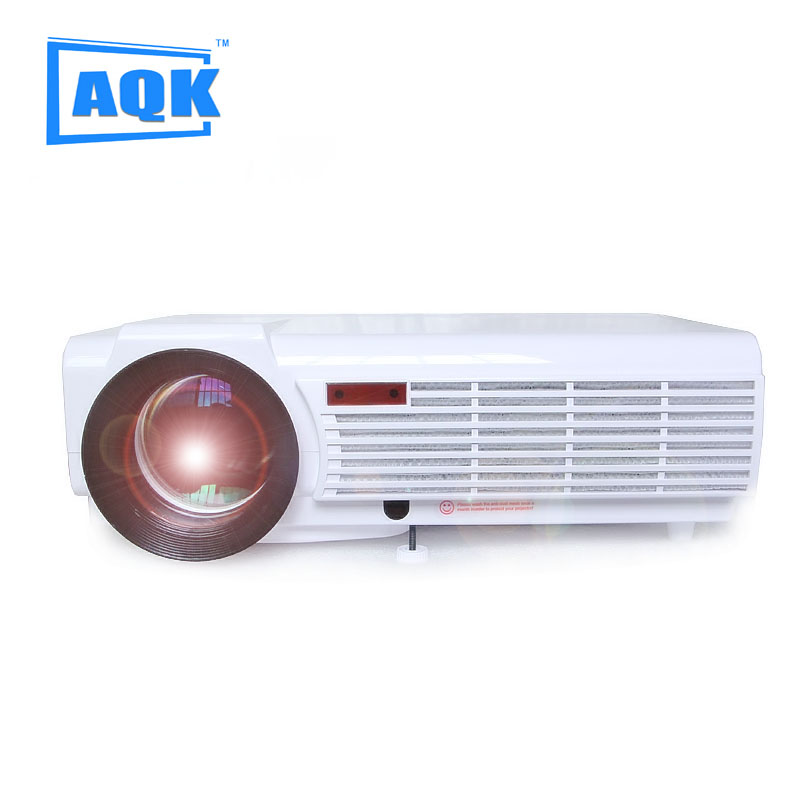 Big Discount LED96 5500lumens Video HDMI USB 1280×800 Full HD 1080P Home Theater 3D LED projector Projetor proyector beamer