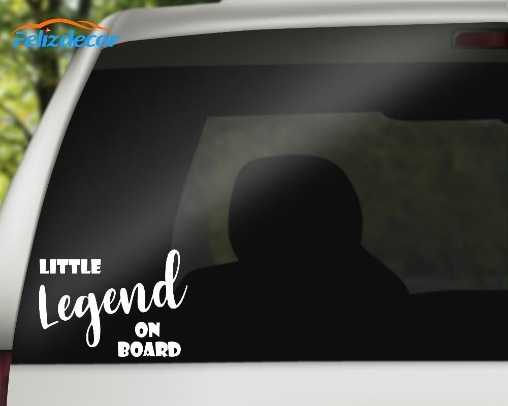 Little legend on board art quotes vinyl car decal fun bumper sticker gift new desgin car bady decorative stickers l014