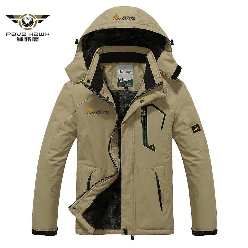 Men's Winter Thicken Fleece Jacket and Coats Thermal Warm Cotton Down   Parkas   Outwear Waterproof Windbreaker Plus Size 5XL 6XL