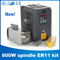 Zhong Huajiang CNC Router Spindle 800W Air Cooled Spindle Kit 800W Spindle + 1.5KW/220V Frequency Inverter + 13pcs ER11 Collet