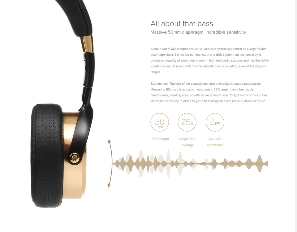 Original xiaomi over-ear fones de ouvido com