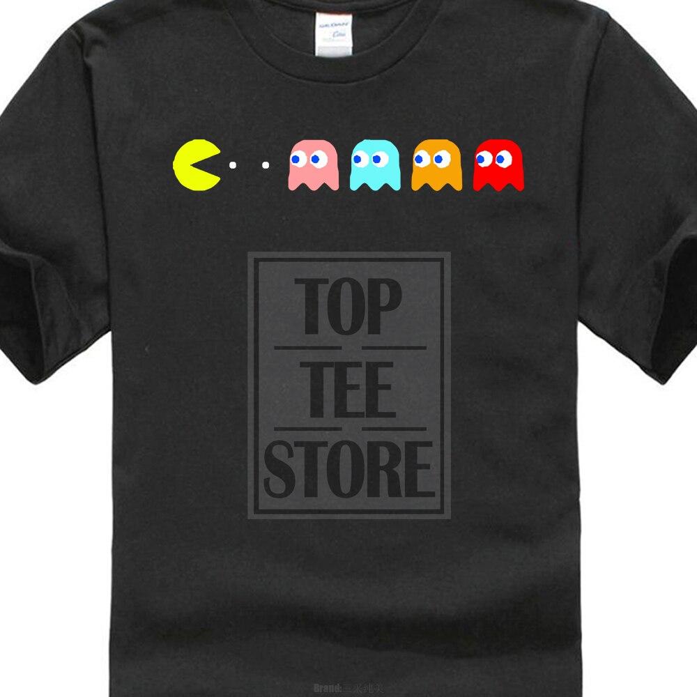 Camisas Homme Novedad Camiseta Hombre Nuevo Juego Retro C64 Pacman & - Ropa de hombre