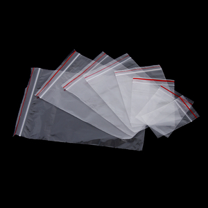 100 pcs/pack clear Reclosable zipper pounch Jewelry Zip With Lock Bag Plastic Self Adhesive Zipper Bag PE Pouch Poly packing bag