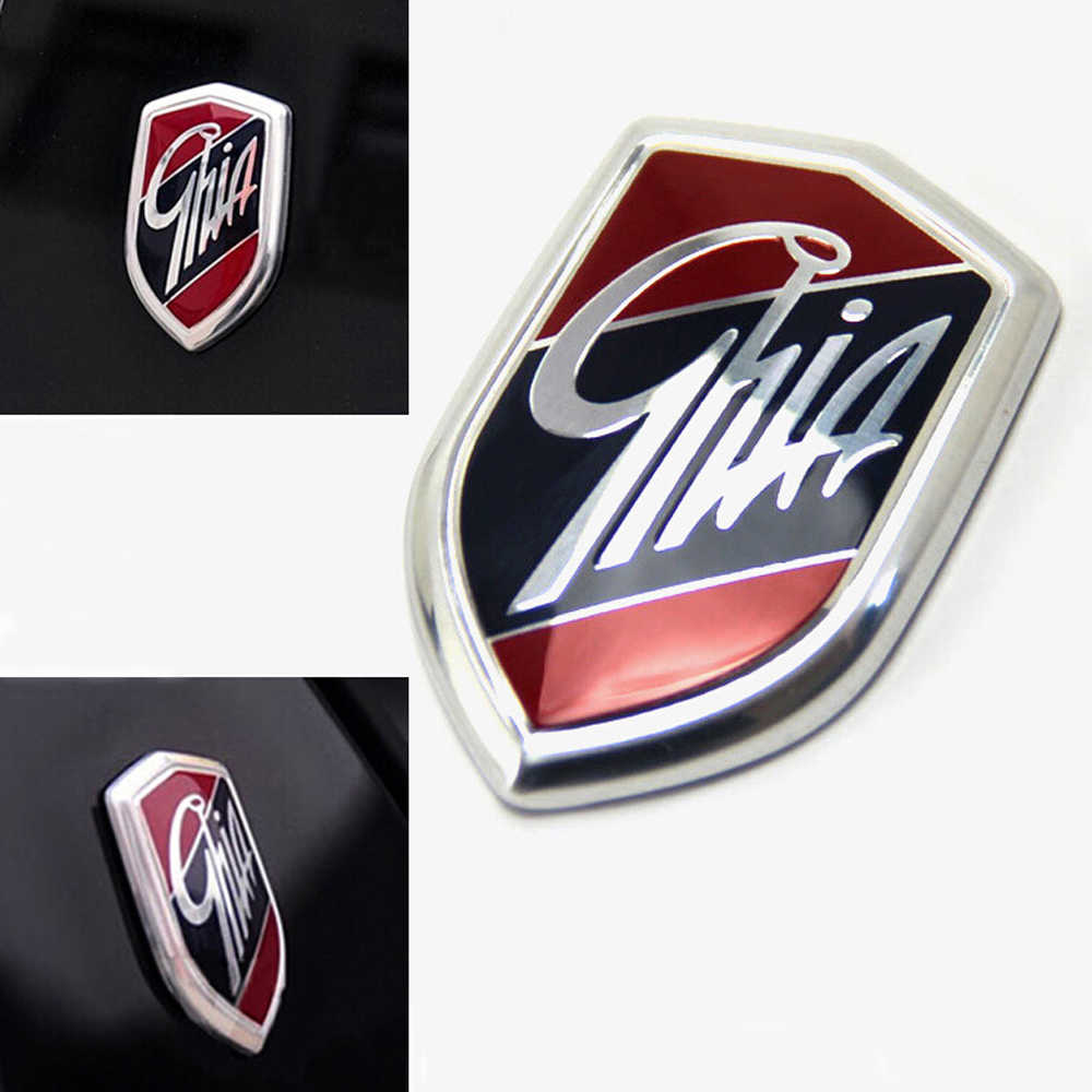1Pcs / 2Pcs Emblems GHIA Side Shield Logo Marked Stickers For Ford Focus 2 3 4 Mondeo Fiesta Ecosport Kuga Edge Explorer Everest