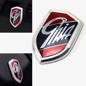 1Pcs / 2Pcs Emblems GHIA Side Shield Logo Marked Stickers For Ford Focus 2 3 4 Mondeo Fiesta Ecosport Kuga Edge Explorer Everest(China)