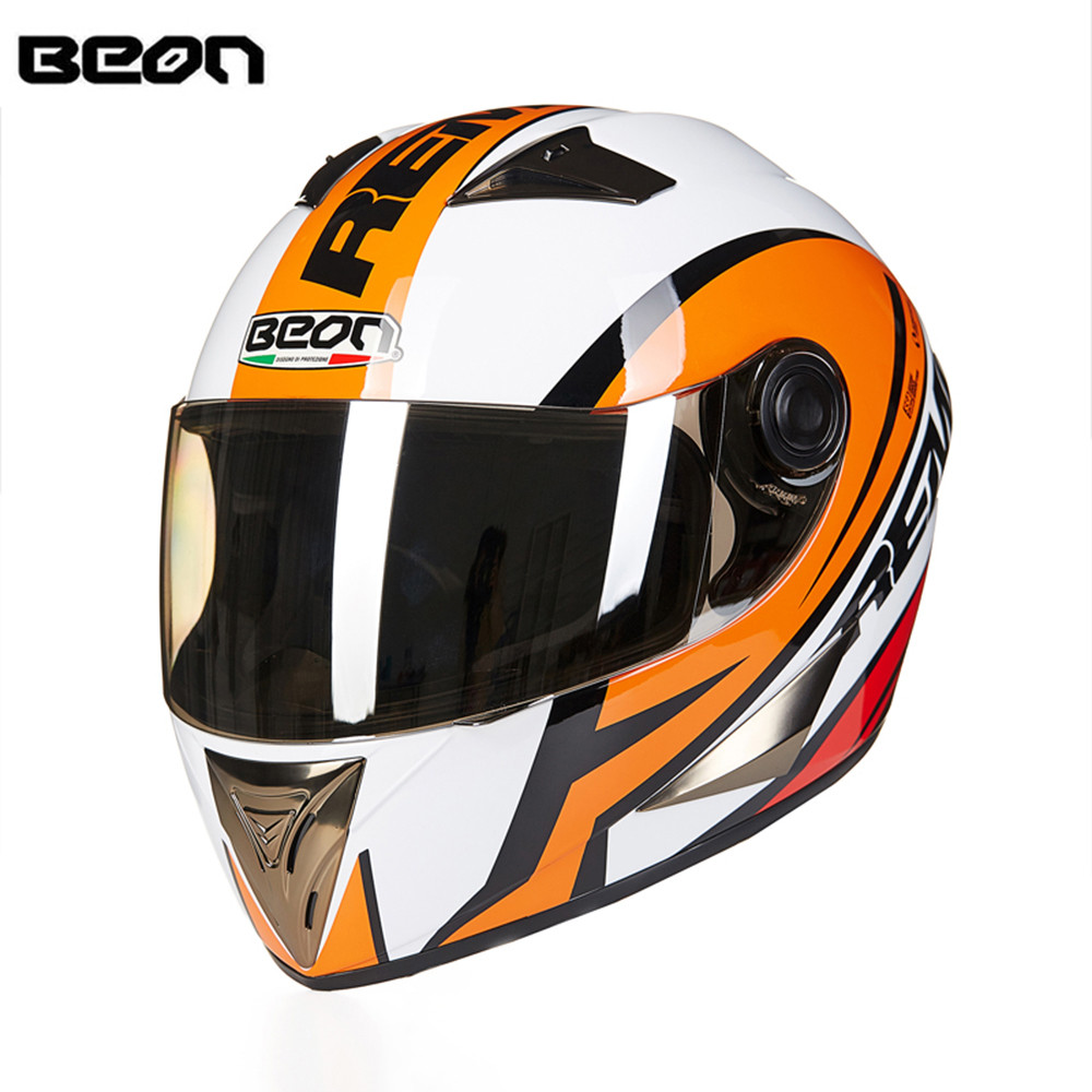 New Arrival ECE Motorcycle Helmet Racing Full Face Helmet B5008 Moto Casque Casco motocicleta Capacete Kask helmets Chrome Visor 2017 new ece certification ls2 motocross motorcycle helmet ff352 full face motorbike helmets made of abs and pc silver decadent