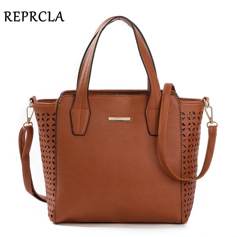 REPRCLA Yeni Vintage Kadınlar Çanta Çanta Tasarımcısı PU Deri - Çanta