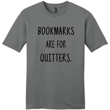 Funny Shirts Crew Neck Men Short Sleeve Christmas Librarian Gifts Bookmarks Are For Quitters Reading  Shirt