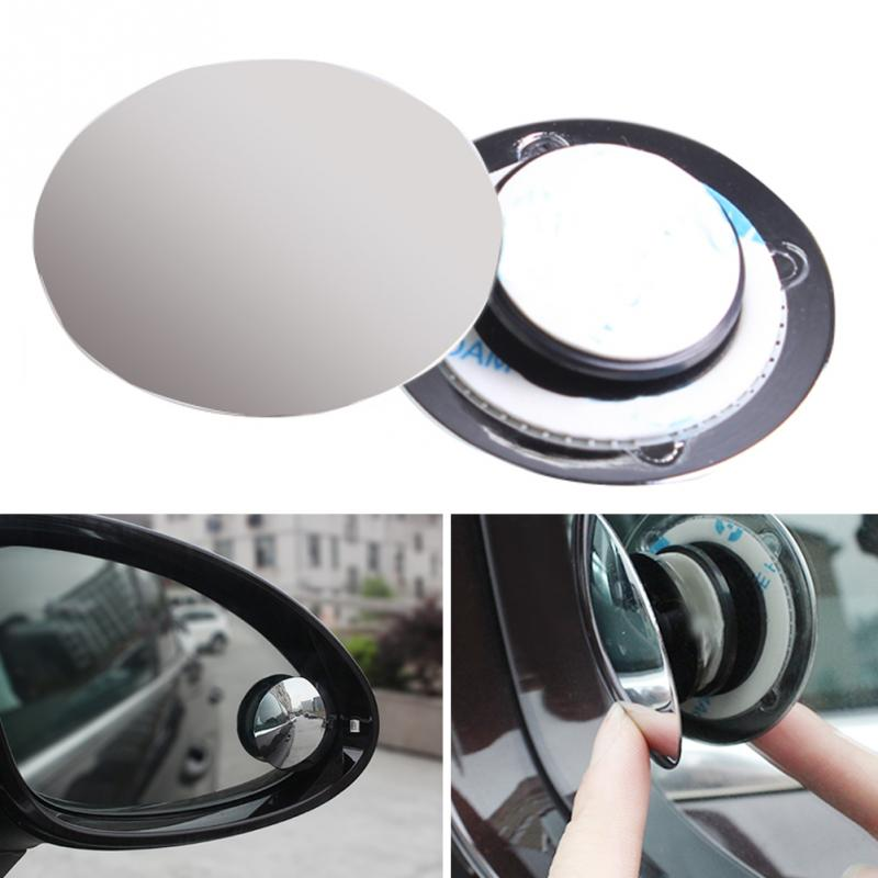 2019 Universal Car Mirror Wide Angle Double Use Assist Round Convex Blind Spot Mirror For Parking Rear View Mirror Rain Shade(China)