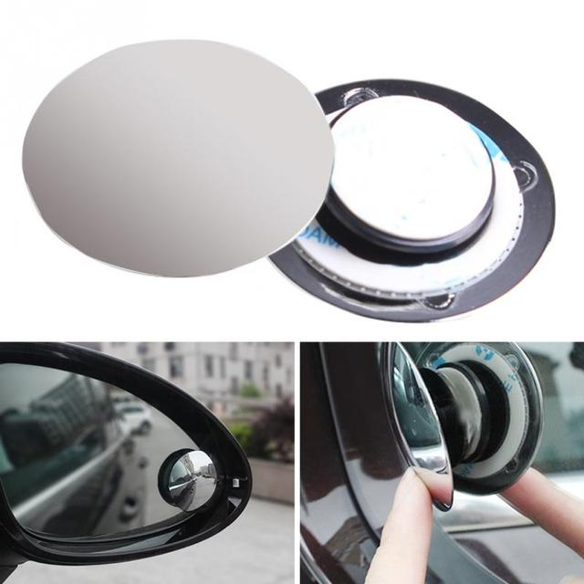 2019 Universal Car Mirror Wide Angle Double Use Assist Round Convex Blind Spot Mirror For Parking Rear View Mirror Rain Shade