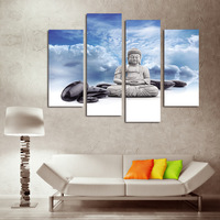 FOUR PC NO FRAME Blueprint For Sitting Buddha Oil Painting Printed Oil Painting On Canvas Oil