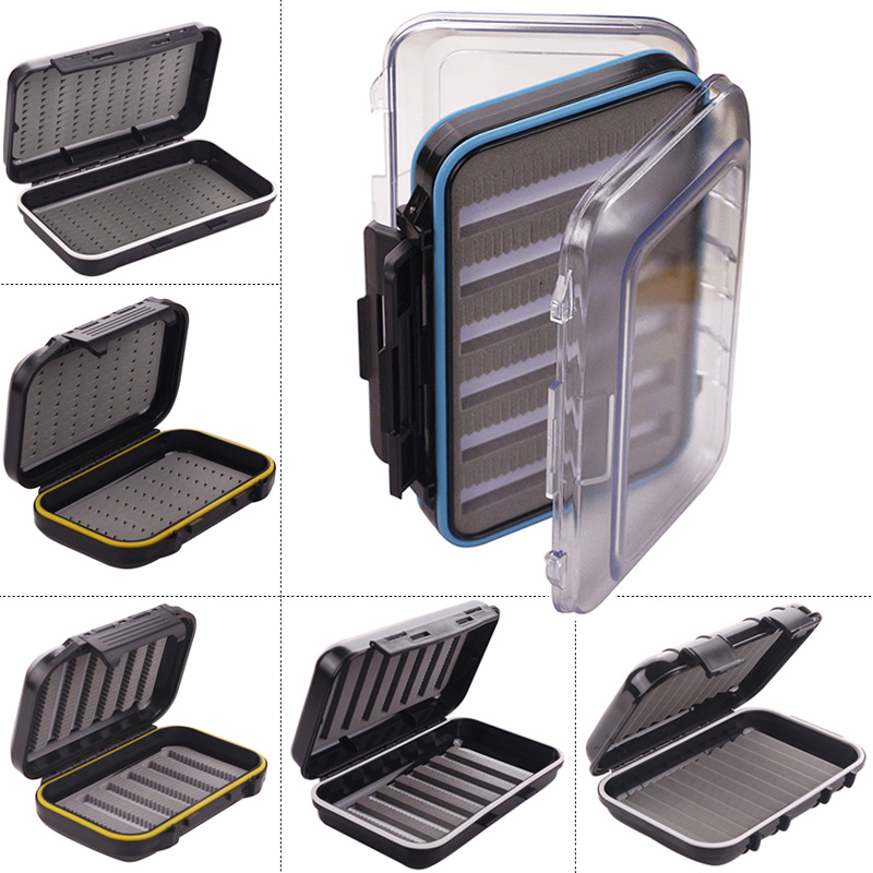все цены на Waterproof Fly Fishing Box Double Side Clear Slit Foam Fishing Tackle Storage Case Box for Lure Baits Hooks Accessories de pesca