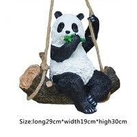 Resin Simulation Garden Swing Swinging Panda For House Garden School Party Outdoor Indoor Chilrden Pet Park Toy Decoration
