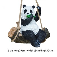 Resin Simulation Garden Swing Swinging Panda For House Garden School Party Outdoor Indoor Chilrden Pet Park Toy Decoration