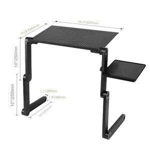 Image 3 - Taşınabilir katlanabilir ayarlanabilir katlanır masa Laptop için masaüstü bilgisayar mesa para dizüstü standı Tepsi Için