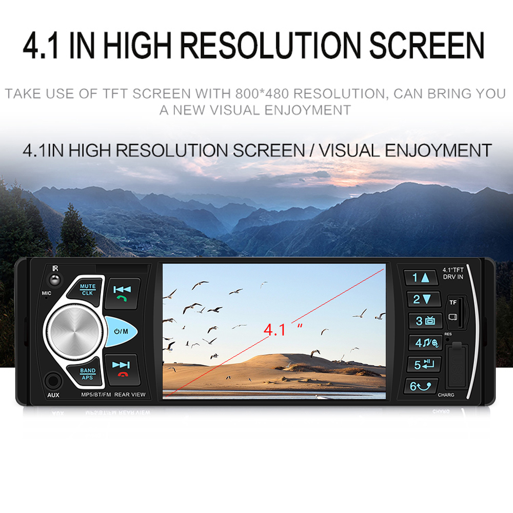 """Image 2 - AMPrime Autoradio 4022D 4.1"""" 1 Din Car Radio Audio Stereo USB AUX FM Audio Player Radio Station With Remote Control Car Audio-in Car Radios from Automobiles & Motorcycles"""