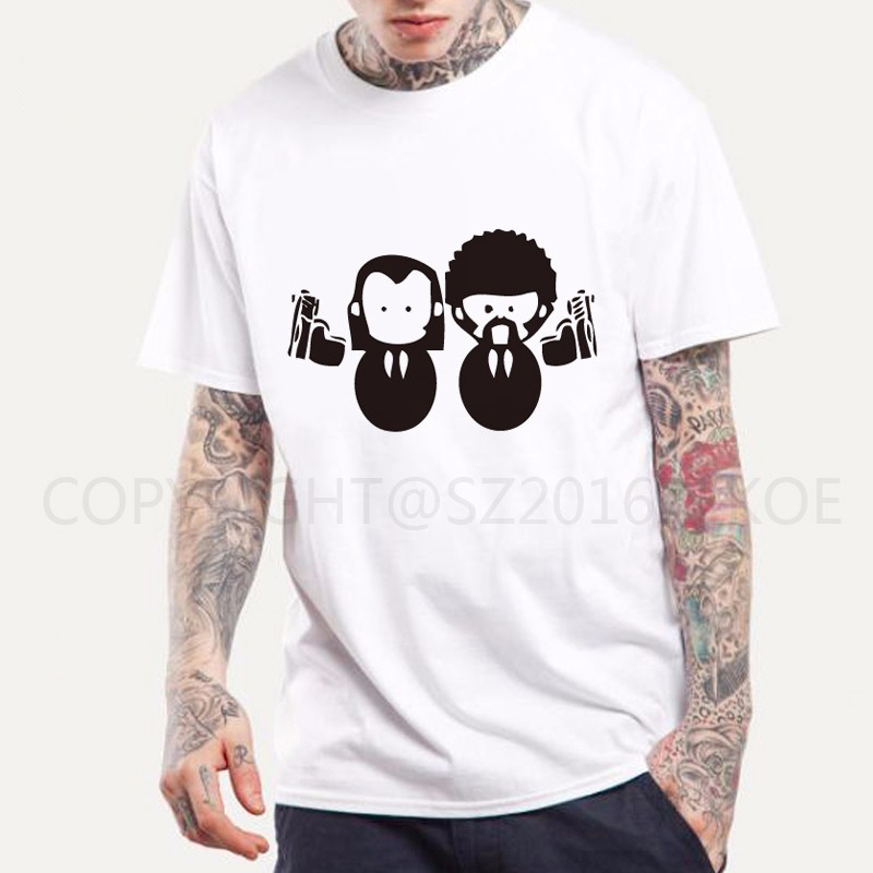 PULP FICTION WHY SO SERIOUS QUENTIN MOVIE T shirt Summer Slim Fit John Travolta KULT Man Tees 2016 new Fashion Normal T-shirt