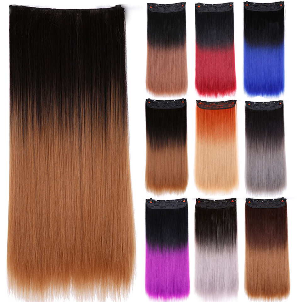 245clips clip in ombre hair extension long straight synthetic 245clips clip in ombre hair extension long straight synthetic hair red purple brown clip in synthetic hair extension hairpieces on aliexpress alibaba pmusecretfo Choice Image