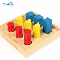 Zabawki dla dzieci Przedszkole Montessori Pomoce Dydaktyczne Geometria Kształt Pokładzie Szkolenia Zabawki Nauka i Edukacja