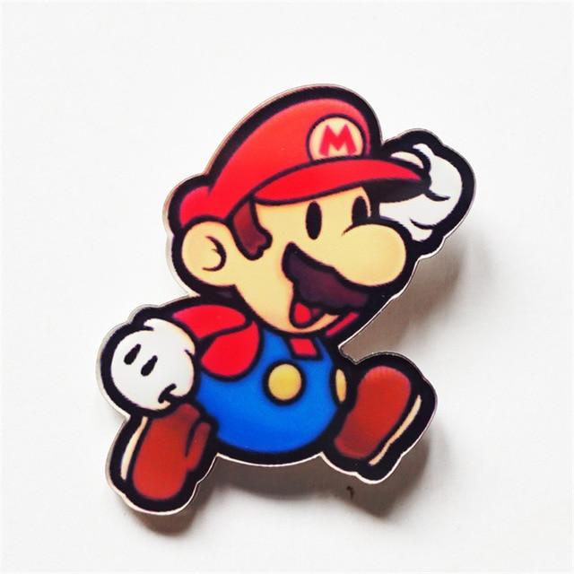 Ingenious Super Mario Brothers Mushroom Metal Pins Brooches Cute Bag Breastpin Pin 1pcs Brooches & Pins
