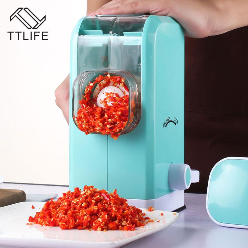 TTLIFE Vegetable Chopper Food Processor Cutter Multifunction Vegetable Fruit Twist Shredder Manual Meat Grinder Kitchen Tools