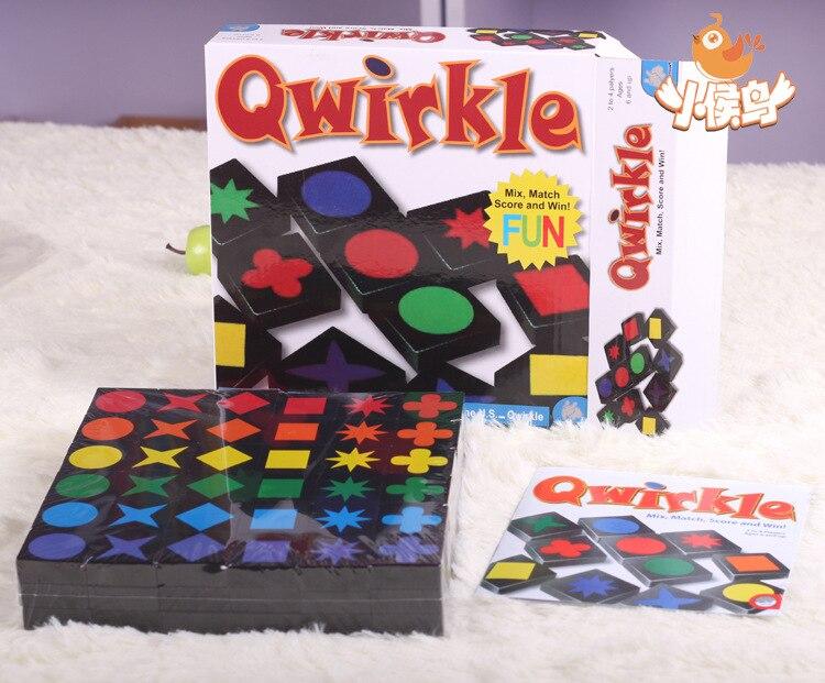Qwirkle Mix match score et gagner! Enfants jouets Éducatifs Échecs Bureau jeux, L'assemblée en bois jouet Qwirkle Adulte intelligence jeux