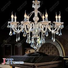 J best price new fashion light K9 Crystal Chandelier Modern 8 Lights Candle Crystal ceiling light for dining room living room