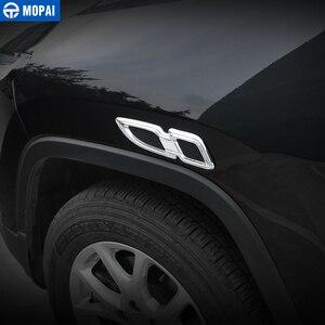 Image 2 - Pegatinas de para coches MOPAI para Jeep Grand Cherokee, cubierta de ventilación de flujo de aire para motor de guardabarros, accesorios para Jeep Grand Cherokee