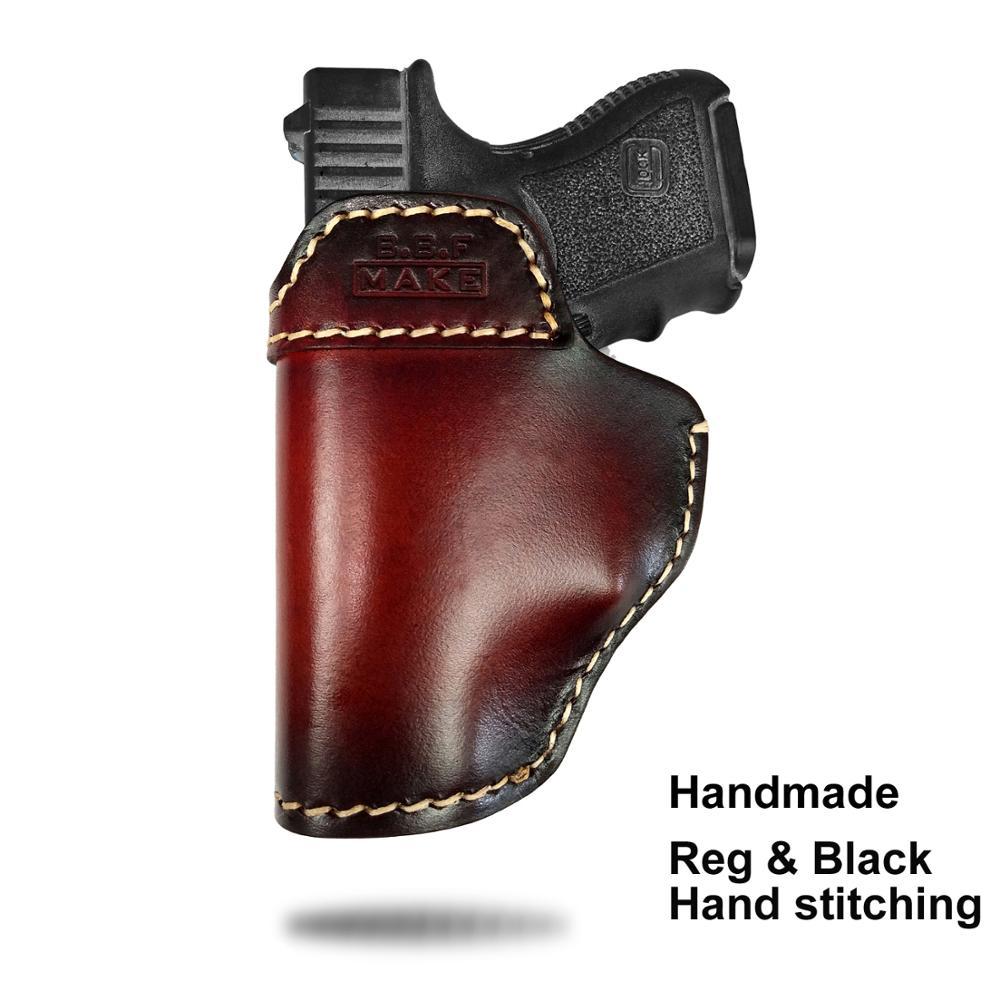 B B F MAKE Gun Holster Leather Case For S W M P Shield GLOCK 19