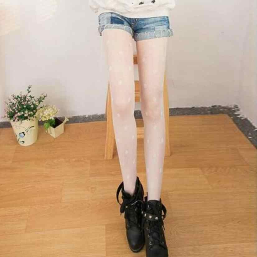 Doudoulu, medias altas de punto para mujer, medias sexis largas hasta el muslo, medias sexis de color liso, pantimedias elásticas # qs