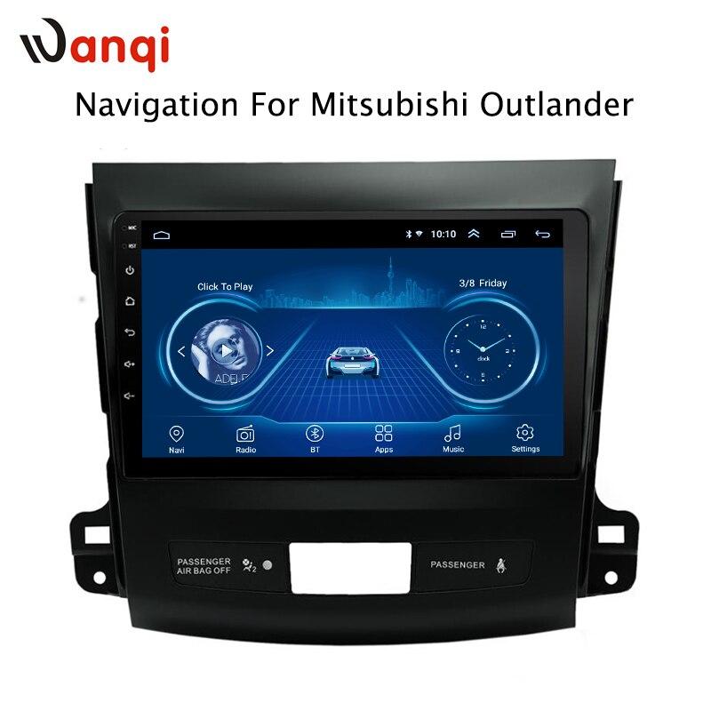 9 pouces Android 8.1 2.5D trempé HD écran tactile Radio pour Mitsubishi Outlander 2006-2012 avec Bluetooth USB WIFI support SWC