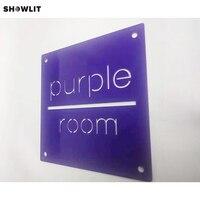 Indoor Custom Hotel House Signs In Purple