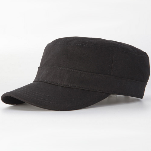 30pcs Cheap Men Large Blank Cotton Army Style Hats for Spring Summer Autumn  Women Plain Black Flat Strap Back Caps Wholesale 3afd76f61f5f