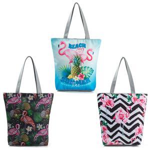 585ba8be464 THINKTHENDO Tote Canvas Printed Shoulder Bag Shopping Bags