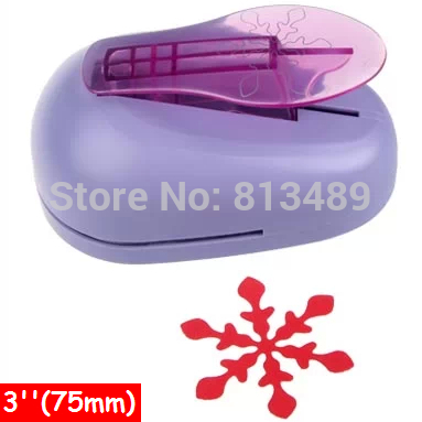 Free Ship Diy Snowflake Paper Cutter Paper Punch Scrapbooking Punches Craft Punch Perfurador Uradores Artesanais 76mm/3'' R352