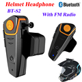 2016 Más Reciente 1000 M Motocicleta A2DP Bluetooth Intercomunicador Del Casco de Auriculares de Intercomunicación Inalámbrico Impermeable MP3 FM Radio Headset Casco