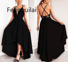 FENGGUILAI Long Summer Dress Women 2019 Sexy Elegant Backless Bandage Dresses Plus Size Vintage Beach Party Robe Vestidos